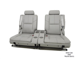 Gm Suburban Tahoe 3rd Third Row Bucket Seats Grey 2007 2010 2011 2012 2013 2014