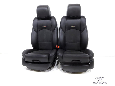 Cadillac CTS-V Sedan Oem Black Leather & Suede Seats 2014 2015 2016 2017 2018