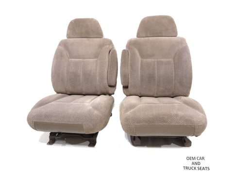 Gm Tahoe Silverado Sierra C/k Oem Cloth Bucket Seats 1995 1996 1997 1998 1999