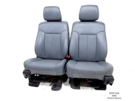 Ford Super Duty F250 F350 Vinyl Work Seats 2010 2011 2012 2013 2014 1999 - 2014
