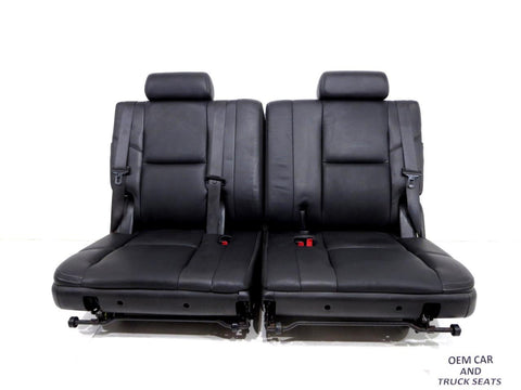 Gm Oem Escalade Tahoe Black 3rd Third Row Seats 2007 2010 2011 2012 2013 2014