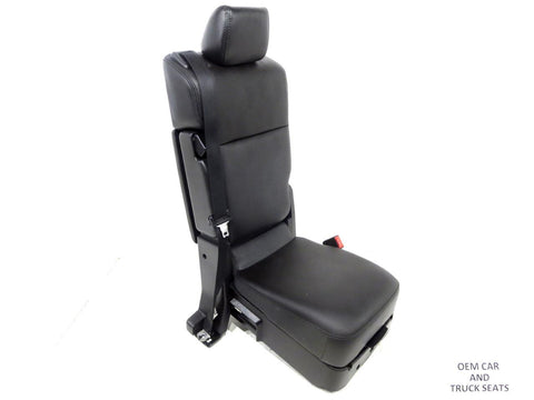 Ford Super Duty F250 F 350 Oem Leather Center Jump Seat 2010 2011 2012 2013 2014