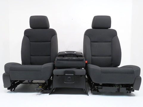 Chevy GMC Silverado Sierra Front Seats & Center Jump Seat 2014 2015 2016 2017 2018 2019
