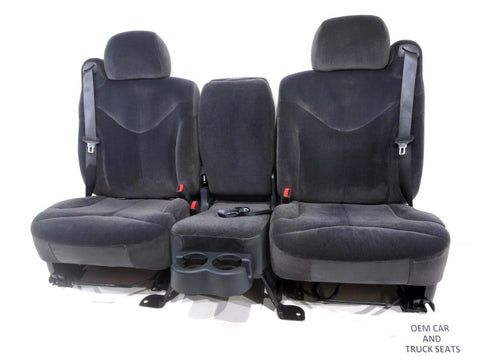 Gm Silverado Tahoe Suburban Oem Charcoal Cloth Front Seats 1999 2000 2001 2002 '
