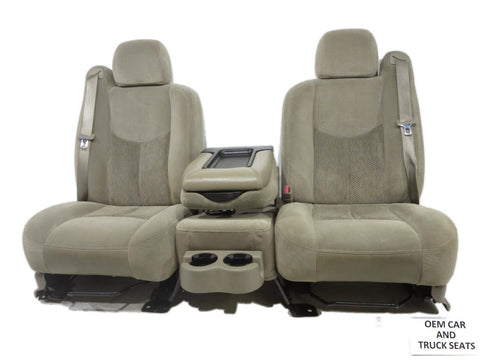 Gm Silverado Tahoe Suburban Oem Tan Cloth Front Seats 2003 2004 2005 2006 '