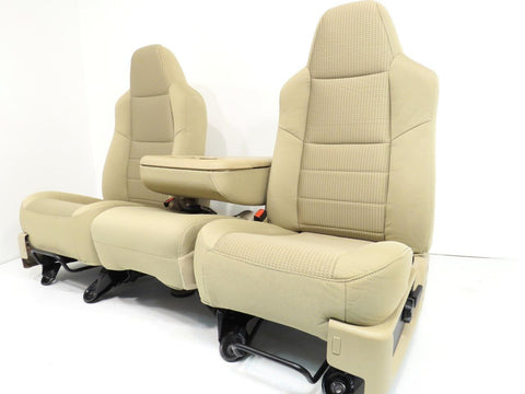Ford Super Duty Camel Tan Cloth Seats With Jumpseat 2008 2009 2010