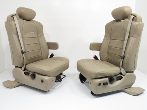Ford Super Duty Lariat Super Cab Tan Leather Seats 2002 2003 2006 2007