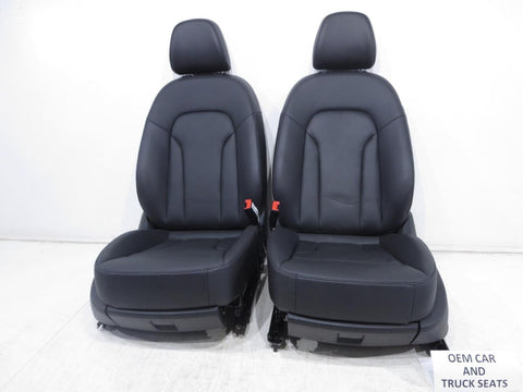 Audi Q3 Oem Black Leather Power Seats 2015 2016 2017 2018 2019