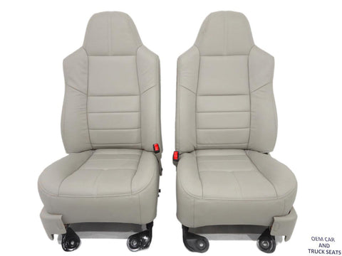 Ford Super Duty F250 F350 New Stone Leather Refurbished Seats 2008 2009 2010