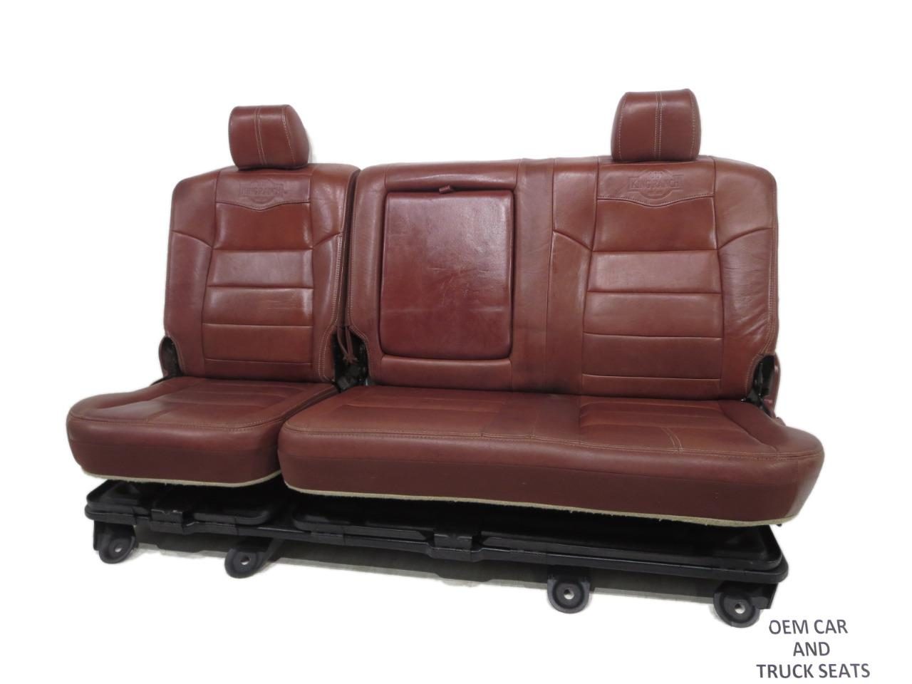 Groovy Ford Super Duty F250 F350 Oem King Ranch Leather Rear Bench Seat 2008 2009 2010 Theyellowbook Wood Chair Design Ideas Theyellowbookinfo