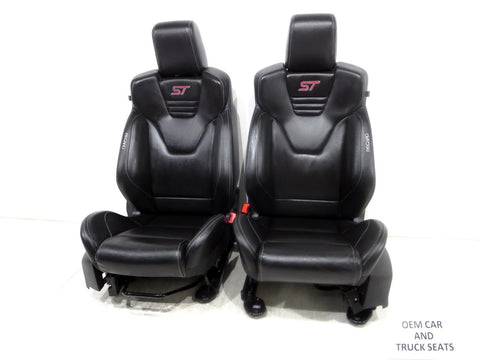 Ford Focus St Mk3 Recaro Leather Oem Front Seats 2011 2012 2013 2014 2015 2016