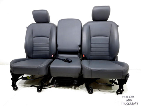 Dodge Ram Grey Vinyl Seats 2009 2010 2011 2012 2013 2014 2015 2016 2017 2018