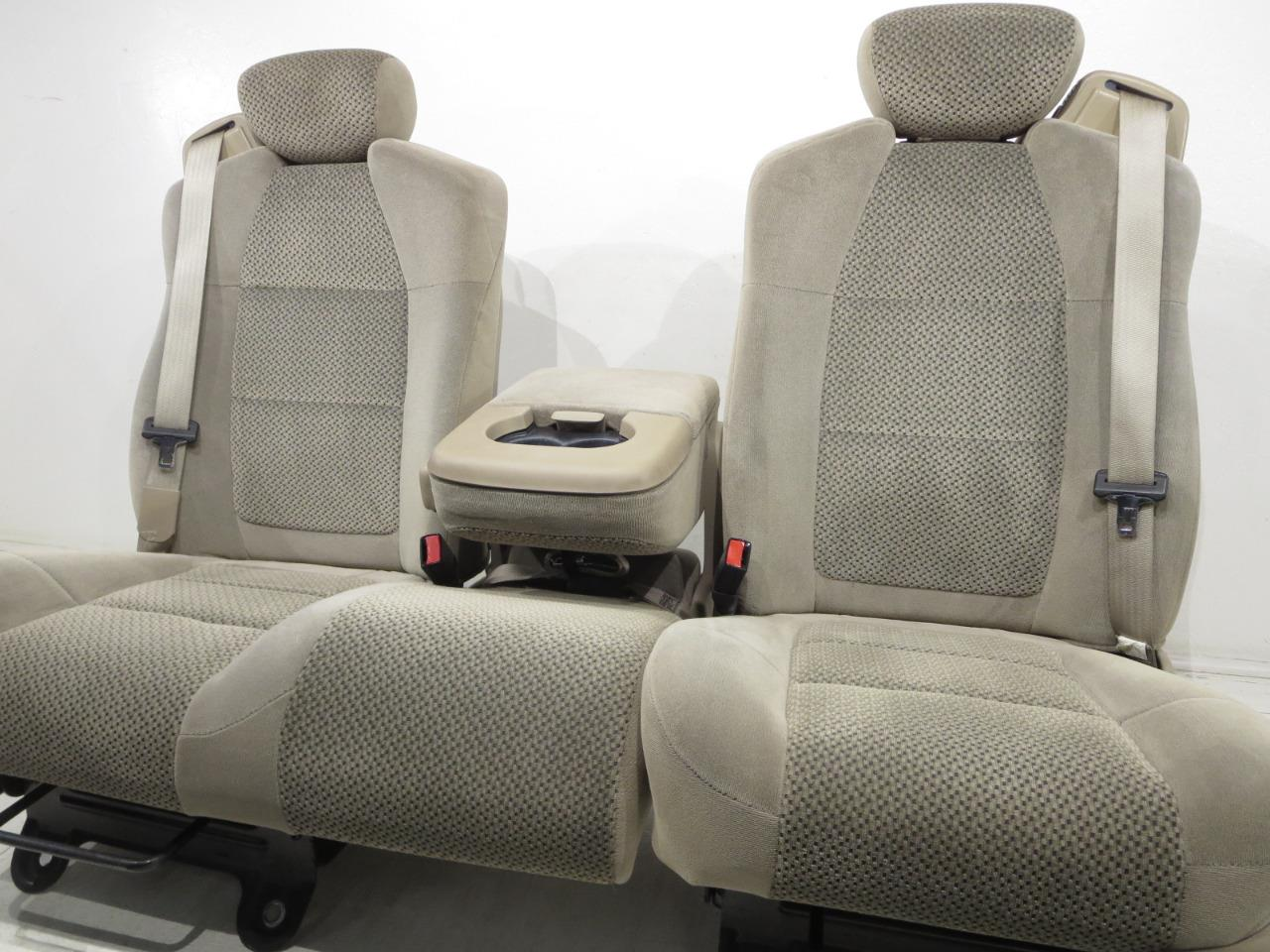 Marvelous Ford F150 F 150 Oem 60 40 Tan Cloth Seats Extended Cab Supercab 2001 2002 2003 Pabps2019 Chair Design Images Pabps2019Com