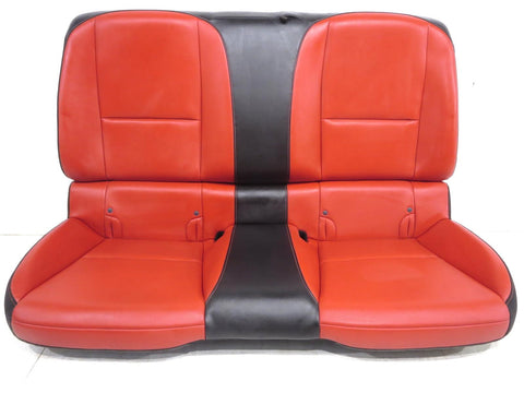 Chevy Camaro Coupe Leather Rear Back Seat Orange 2010 2011 2012 2013 2014 2015