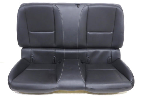 Chevy Camaro Coupe Leather Rear Seat Black 2010 2011 2012 2013 2014 2015