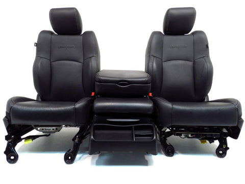Dodge Ram Seats Laramie Black Leather Fronts With Center Folding Jump Seat 2009 2010 2011 2012 2013 2014 2015 2016 2017 2018