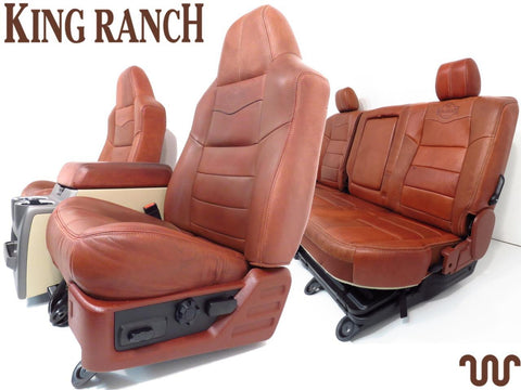 Ford King Ranch Super Duty Complete Seat Set, Front Seats Rear Seats & Console