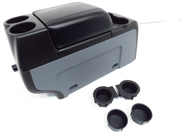 Ford Expedition King Ranch >> Replacement Ford F150 Center Console F-150 Black Leather Lid 2009 2010 2011 2012 2013 2014 ...