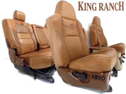 Ford King Ranch Seats Super Duty Seats and Console 2003 2004 2005 2006 2007