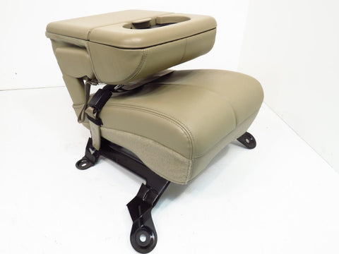 Ford Super Duty Center Jump Seat Console Tan Leather 1999 2000 2001 2002 2003 2004 2005 2006 2007