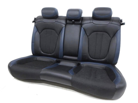 Chrysler 200 S Black Blue Leather Rear Seat 2011 2012 2013 2014 2015 2016 2017