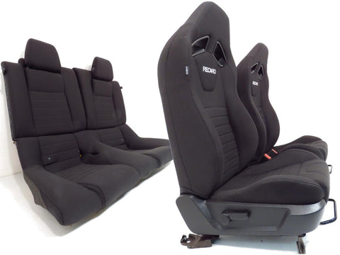 Ford Mustang Recaro Seats Front And Rear Gt500 2014 2013 2012 2011 2009 2005