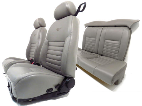 Ford Mustang Seats 40th Anniversary Gray Leather Front & Rear Seats 1994 1995 1996 1997 1998 1999 2000 2001 2002 2003 2004