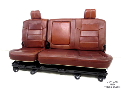 Ford Super Duty F250 F350 Oem King Ranch Leather Rear Bench Seat 2008 2009 2010