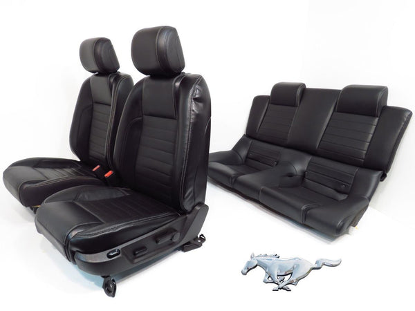 mustang rear seats leather ford convertible replacement