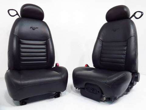 Ford Mustang Midnight Black Leather Seats 1994 1995 1996 1997 1998 1999 2000 2001 2002 2003 2004