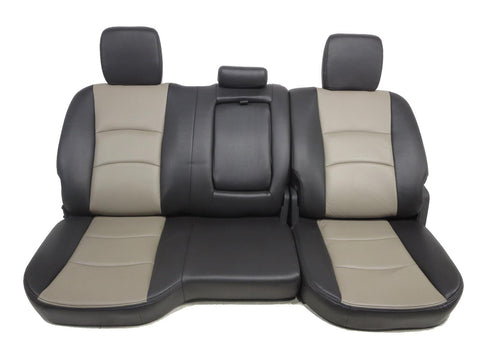 Dodge Ram Two Tone Leather Crew Cab Leather Rear Seat 2009 2010 2011 2012