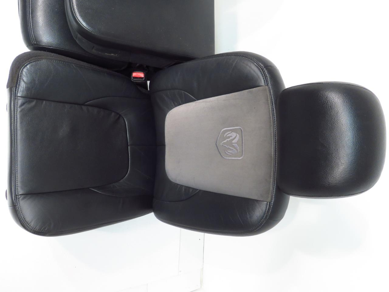 Replacement Dodge Ram Seats Black Leather Power Suede 2002 ...