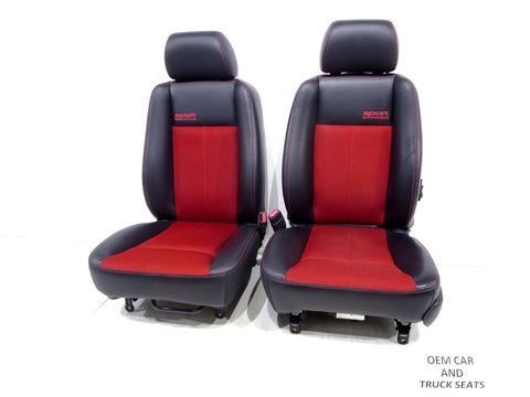 Dodge Dakota Sport Leather & Cloth Front Seats 2006 2007 2008 2009 2010 2011