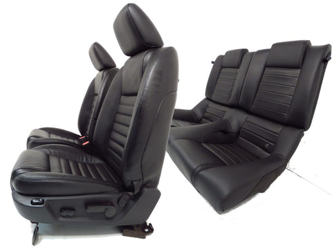 Ford Mustang Seats Black Leather Set Front Rear Seats Coupe 2005 2006 2007 2008 2009