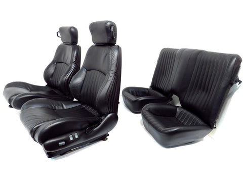 Pontiac Firebird Trans Am Ws6 Ebony Leather Seats Front And Rear Seats 1992 - 2002