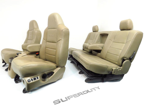 Ford Super Duty Crew Cab Front & Rear Seats & Console 1999 - 2007 F250 F350 F450