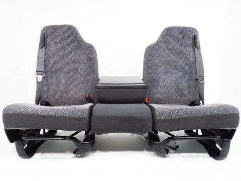 Dodge Ram Grey Cloth Seats w/ Integrated Belts 1998 1999 2000 2001 2002