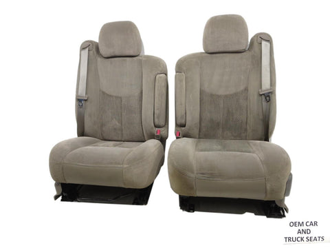 Gm Tahoe Yukon Suburban Oem Tan Power Cloth Front Seats 2003 2004 2005 2006 '