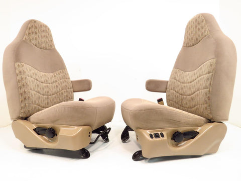 Ford Super Duty Power Seats Tan Cloth 1999 2000 2001 2002 2003 2004 2005 2006 2007