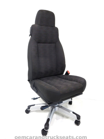 Jeep Wrangler TJ Executive Office Chair (Black Cloth)