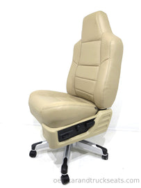 Ford Super Duty F250 F350 Leather Executive Office Chair (2008-2010 Style, Tan)