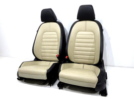 Vw Cc Two-tone V-tex Leatherette Seats 2008 2009 2010 2011 2012 2013 2014 2015 2016