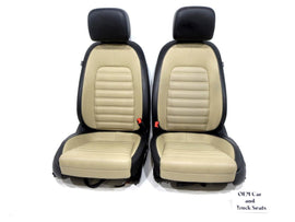 Vw Cc Two-tone V-tex Leatherette Seats 2008 2009 2010 2011 2012 2013 2014 2015
