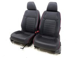 Vw Jetta Gli Autobahn Edition Oem V-tex Leatherette Black & Red Seats 2011 2012 2013 2014 2015