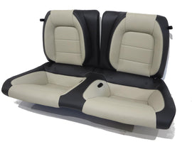Oem Ford Mustang Gt Coupe Leather Rear Seat Black & Ceramic White 2015 2016