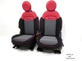 Fiat 500x Red & Black Oem Seats Cloth Vinyl 2016 2017