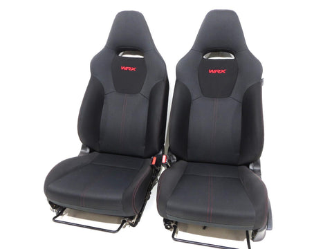 Subaru Impreza Wrx Sti Black Cloth Front Seats 2012 2013 2014 2015