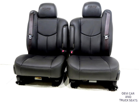 Silverado Ss New Leather Oem Seats 2003 2004 2005 2006 Gm Chevy Tahoe Suburban'