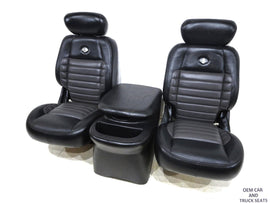 Ford F-150 Harley Rear Leather Bucket Seats 1997- 2000 2001 2002 2003