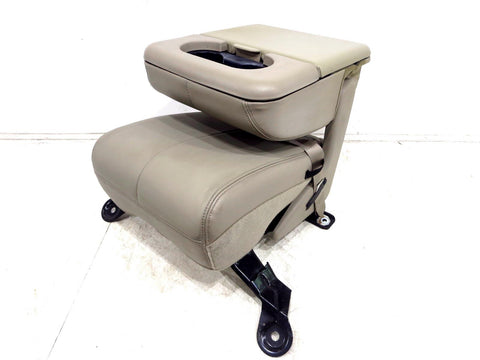 1999 - 2007 Ford Super Duty F250 F350 F450 Oem Leather Console Jump Seat Tan
